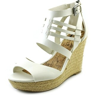 G By Guess Escinta Women Open Toe Synthetic Ivory Wedge Heel