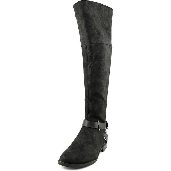 Bar III Dolly 3 Wide Calf Women Round Toe Synthetic Black Knee High Boot