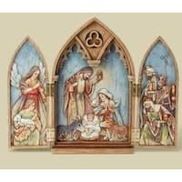 "11.25"" Joseph's Studio Religious Christmas Nativity Triptych Holy Family Decor"