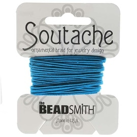 BeadSmith Soutache Braided Cord 3mm Wide - Peacock Blue (3 Yards)