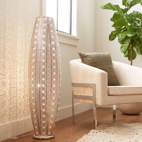 Silver Orchid Brielle 43.5-inch 2-light Floor Lamp