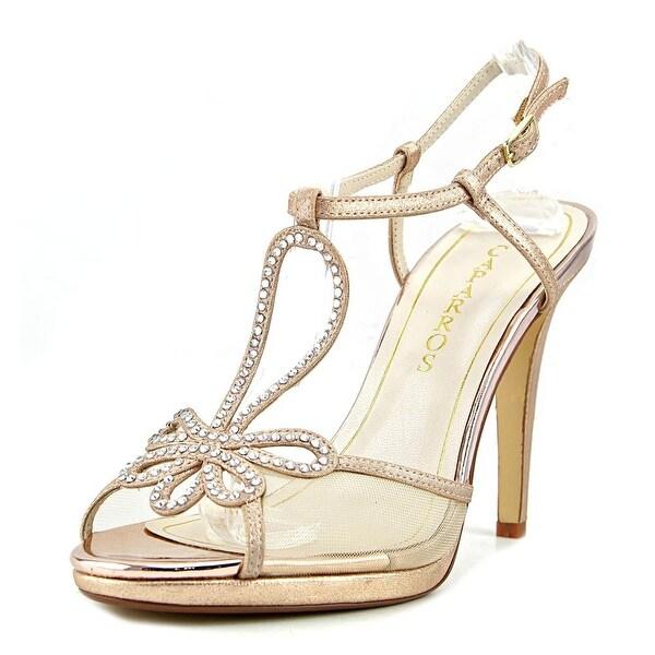 Caparros Claudia Women Rose Gold Metallic Sandals