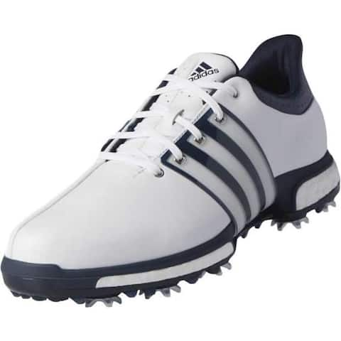 Adidas Men's Tour 360 Boost White/Dark Slate Golf Shoes Q44822/Q44830