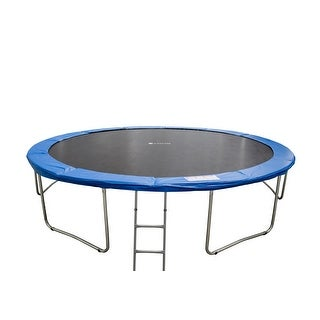 MCombo Deluxe 15' FT Round 6W Legs Trampoline with Cover Pad Frame & Jumping Mat LT015