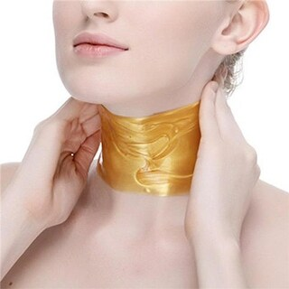Tagco USA LS-5CCNM-GOL Collagen Crystal Neck Mask, Gold