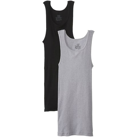 Hanes 392DP2-XL ComfortSoft Cotton Men's Tank Tee-Shirt, X-Large, 2-Pack