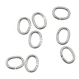 Sterling Silver Open Jump Rings Oval 4x3mm 22 Gauge (20)