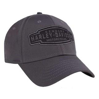 Harley-Davidson Men's Velocity Embroidered Baseball Cap, Charcoal BCC31454