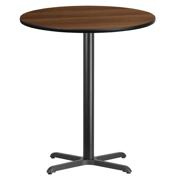 Shop Dyersburg Round Walnut Laminate Table Top W High X - 36 high pub table