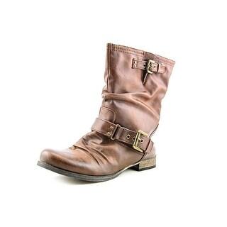 Carlos Santana Ashley Women Round Toe Synthetic Brown Mid Calf Boot