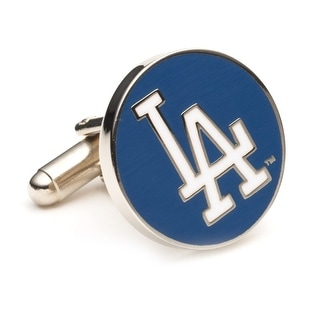 Silver Plated Los Angeles Dodgers Cufflinks