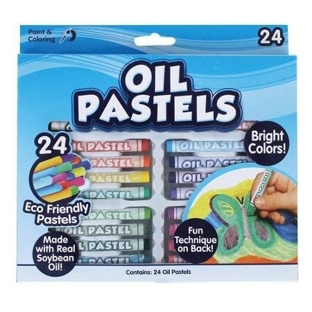 KIDS CRAFT Oil Pastel Soft Crayons, 24pk