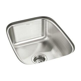 "Sterling 11449 SpringDale 16-1/2"" Single Basin Undermount Stainless Steel Bar Sink with SilentShield"