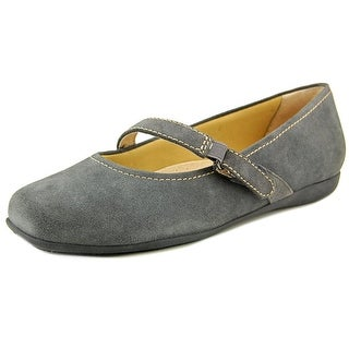 Trotters Simmy Women W Round Toe Synthetic Gray Mary Janes