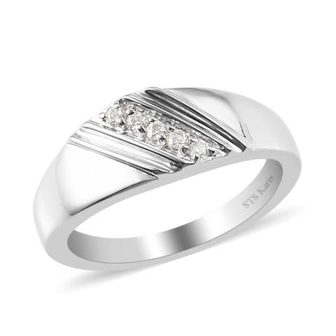 Round Moissanite Karis Platinum Ring Engagement Jewelry Gifts for Mens