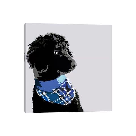 "iCanvas ""Standard Black Poodle III"" by Julie Ahmad Canvas Print"