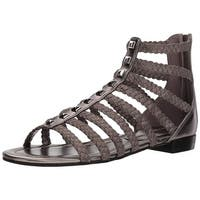 Marc Fisher Women's Pepita Sandal, Black/Black, Size 9.5