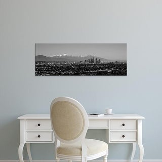 Easy Art Prints Panoramic Images's 'High angle view of a city, Los Angeles, California, USA' Premium Canvas Art