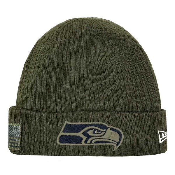 34c668ba New Era 2018 NFL Seattle Seahawks Salute to Service Knit Hat Stocking Beanie