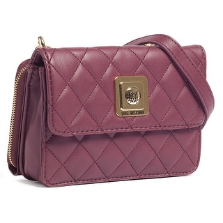 Moschino JC4118 0653 Plum Crossbody/Wallet on a Chain Bag