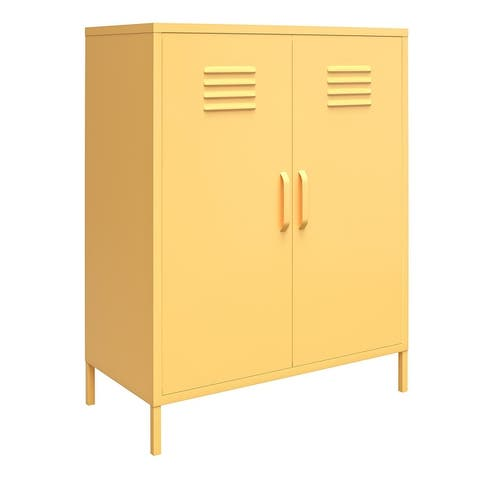 Novogratz Cache 2 Door Metal Locker Storage Cabinet
