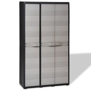 vidaXL Garden Storage Cabinet with 4 Shelves Black and Gray