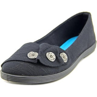 Blowfish Garden Women Round Toe Canvas Black Flats