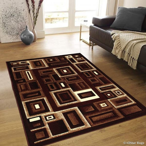 Burgundy Abstract Rugs