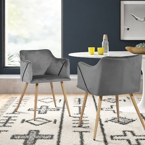 Maidi Velet Metal Iner Soft Back Morden Dining Chairs set of 2