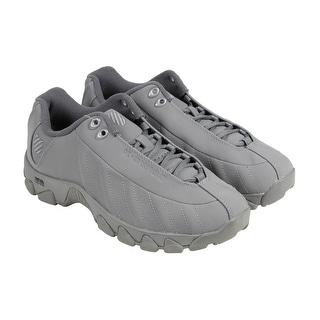 K-Swiss ST329 Mono CMF Mens Grey Nubuck Athletic Lace Up Running Shoes