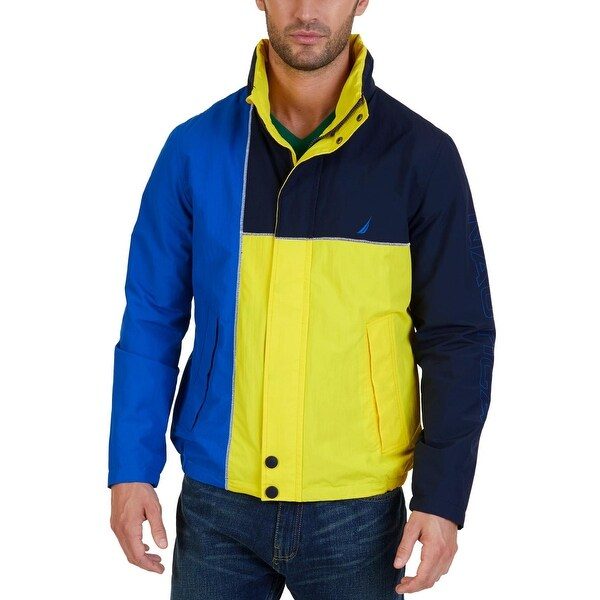 Nautica Mens Jacket Colorblock Hooded - S