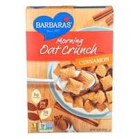 Barbara's Bakery Morning Oat Crunch Cereal - Cinnamon - Case of 6 - 14 oz.