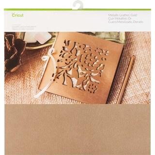 "Gold - Cricut Maker Soft Metallic Leather 12""X12"""