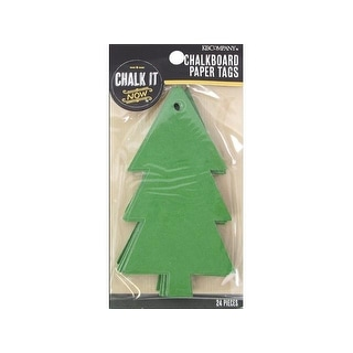 K&Co Chalk It Now Tag Paper Christmas Tree Green