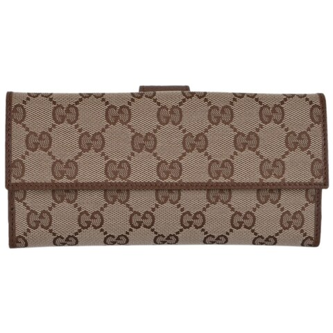 "Gucci Women's 231841 Canvas Leather GG Guccissima Continental Wallet W/Coin - 7.75"" x 4"""