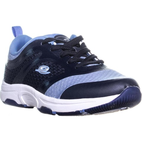 Easy Street On Walk Lace Up Sport Sneakers, Medium Blue - 6 US