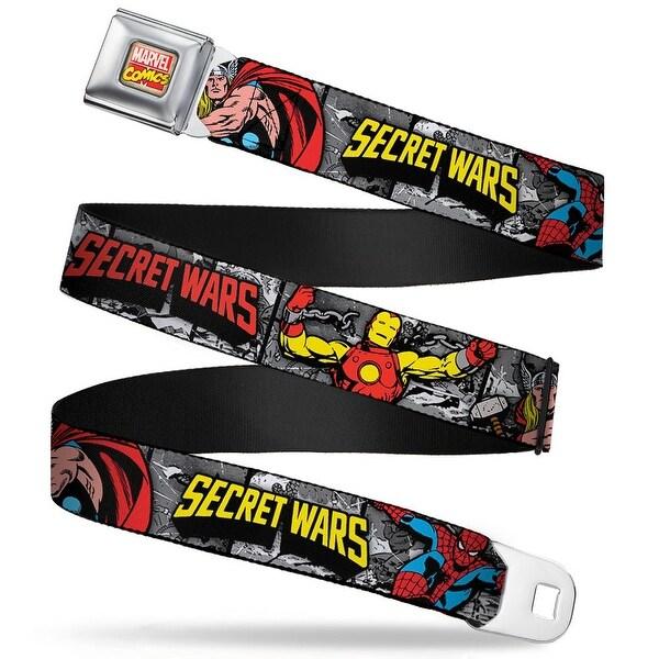 Marvel Comics Marvel Comics Logo Full Color Marvel 4 Super Heroes Secret Seatbelt Belt - XS