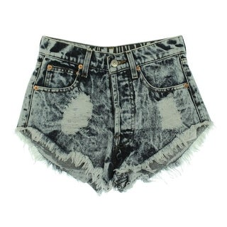 The Laundry Room Womens Acid Wash Destroyed Cutoff Shorts - 29