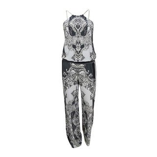 INC International Concepts Women's Wide-Leg Jumpsuit (XS, Multi Dancing Ivy) - multi dancing ivy - xs