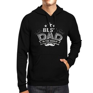Best Dad In The World Unisex Black Vintage Style Hoodie For Dad
