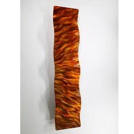 Statements2000 Orange/Gold Abstract Metal Wall Art Accent Decor Sculpture by Jon Allen - Amber Vortex Wave