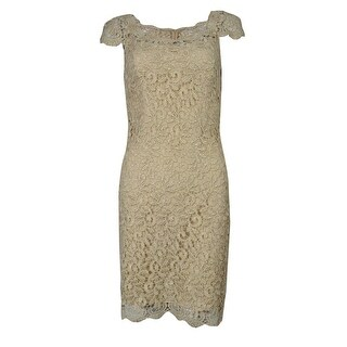 Betsy & Adam Women's Cap Sleeve Lace Dress