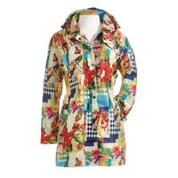 Lindi Women's Gala Floral Raincoat - Water Repellent Jacket with Detachable Hood