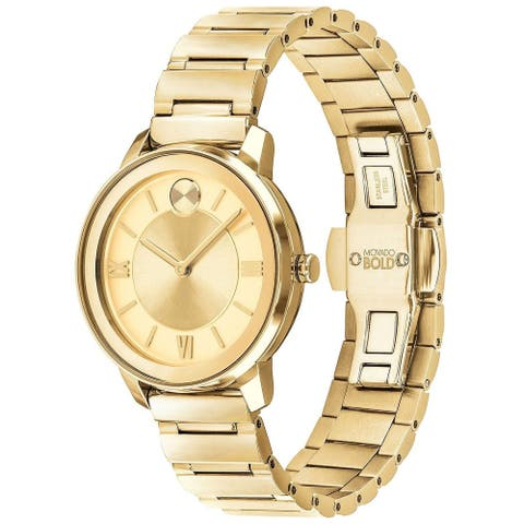 Movado Women's 3600591 'Bold' Gold-Tone Stainless Steel Watch