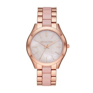 Link to Michael Kors Women's MOP Dial Rose-Gold Pink Ladies Watch - Rose-Gold - Rose-Gold  Similar Items in Women's Watches