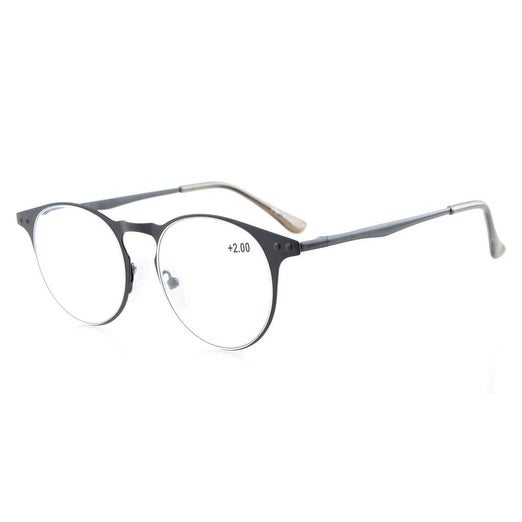 d58b2640ee8 Shop Eyekepper Readers Quality Metal Frame Spring Temples Round Reading  Glasses Black +2.75 - Free Shipping On Orders Over  45 - Overstock.com -  16021051