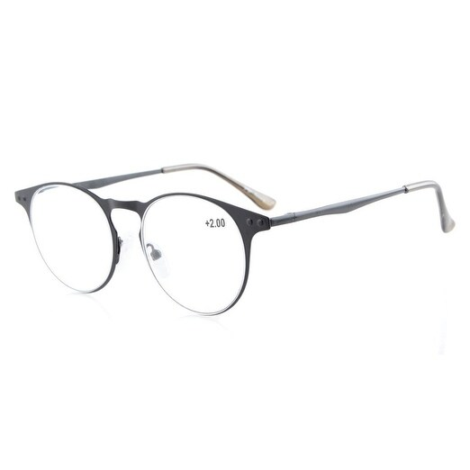 21f5b0063a Shop Eyekepper Readers Quality Metal Frame Spring Temples Round Reading  Glasses Black +4.0 - Free Shipping On Orders Over  45 - Overstock - 16020621