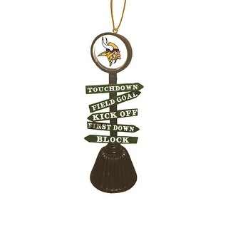 Minnesota Vikings Fan Crossing Ornament