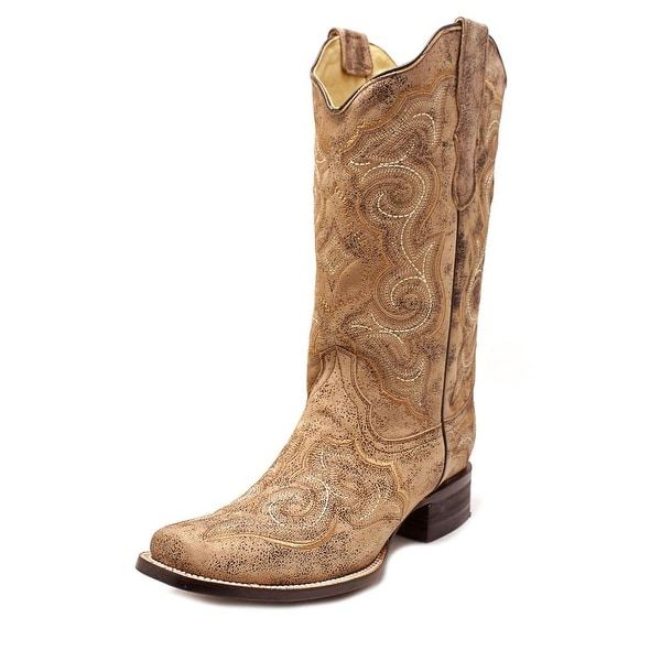 Corral E1042 Square Toe Leather Western Boot