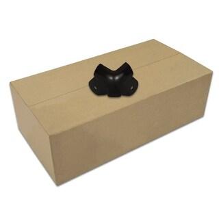 Goldwood Sound GC-203B Steel Black Cabinet Corners Case of 500 Speaker 2 Leg